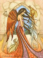 If Only They Where Dragons - Angel and Bengal Pet Art Print