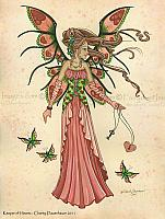Keeper of Hearts - Valentines Day Fairy Art Print