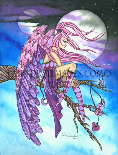 Lovely - Peaceful Angel Art Print