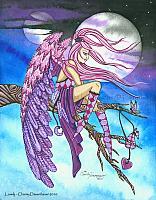 Lovely - Peaceful Angel Art Print