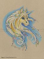 Magical - A Golden Unicorn Art Print
