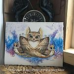 Mama Gives A Hoot - Original Watercolor Painting