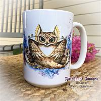 Mama Gives a Hoot - Family of Owls - Coffee Mug