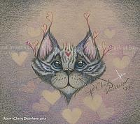 Meow - Whimsical Cat Art Print