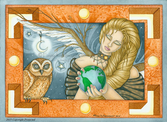 Mother Earth - Hand Embellished Limited Edition Fine Art Prints