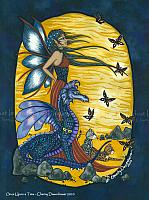 Once Upon a Time - Fairy and Dragon Art Print