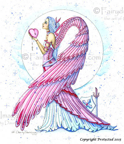 Pink Warrior - Breast Cancer Angel Art Print