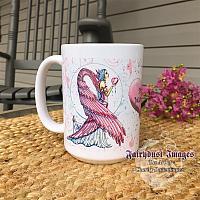 Pink Warrior - Breast Cancer Angel Coffee Mug