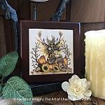 Pumpkin - Wooden Frame Art Tile
