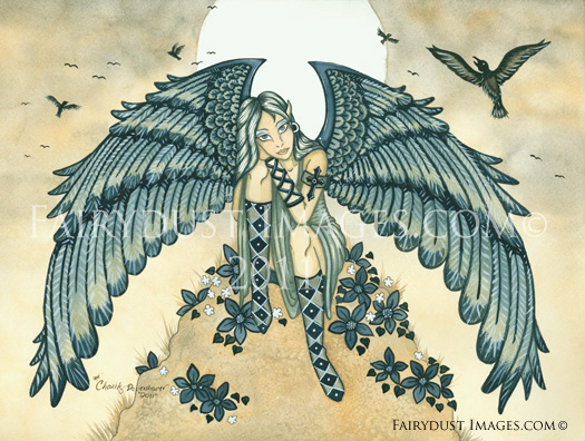 Remembrance - Mourning Angel Art Print