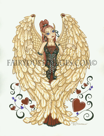 Rock Angel - Fantasy Art Print