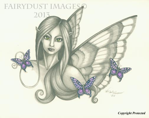 Sarabella - Sweet Fairy Face Art Print