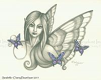 Sarabella - Sweet Fairy Face Art Print