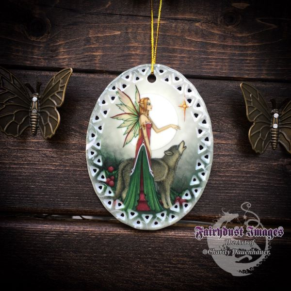 Silent Night - Fairy and Wolf Ornament