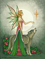 Silent Night - Christmas Fairy Art Print