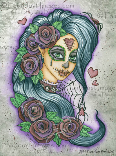 Spider Bite - Sugar Skull Fairy Art Print