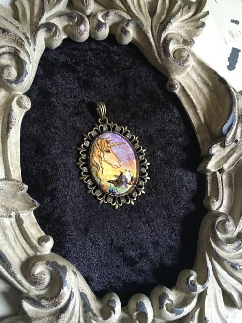 Spirit - Unicorn Cameo Pendant Necklace