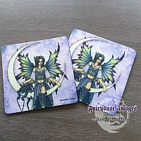 Starry Night - Crescent Moon Fairy Coaster