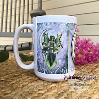 Starry Night - Crescent Moon Fairy Coffee Mug