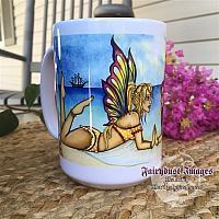 Summertime Beauties - Fairy and Mermaid Coffee Mug
