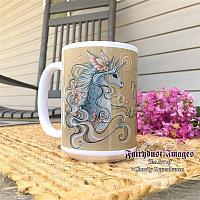 Sweetness - Silver Unicorn - Ceramic Coffee Mug