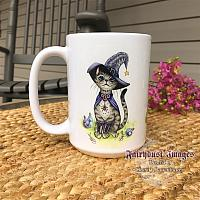 Switch - Cat in a Witches Hat - Ceramic Coffee Mug