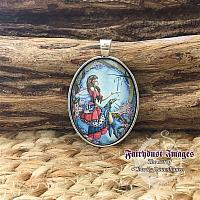 The Ring - Cherry Blossom Fairy - Cameo Pendant Necklace
