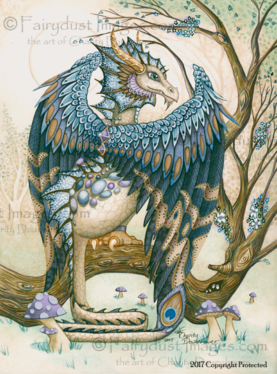 The Beast - Blue Dragon Art Print