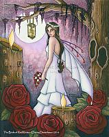 Bride of Red Roses - Fairy Wedding Art Print