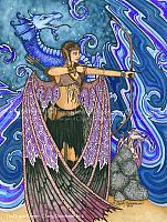 Keeper of Dragons - Warrior Fairy Art Print