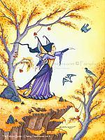 The Falcon Queen - Fairy Art Print