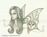 The Owl Keeper - Fairy Face Art Print