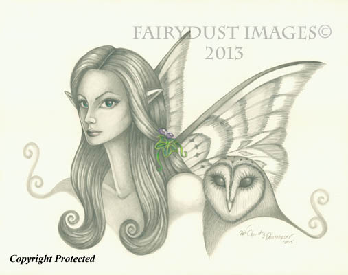 The Owl Keeper - Fairy Face Art Print