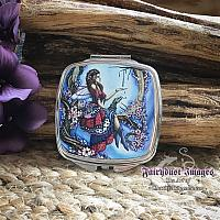 The Ring - Cherry Blossom Fairy and Dragon - Compact Mirror