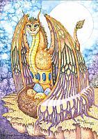 Smitten Protector - Father Dragon Art Print