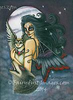 The Night Keeper - Da De Los Muertos Fairy Art Print