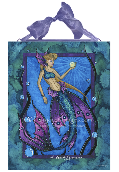 Deep Blue Waters - Mermaid Ceramic Tile Plaque