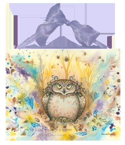 Hootie - Owl Ceramic Tile Plaque