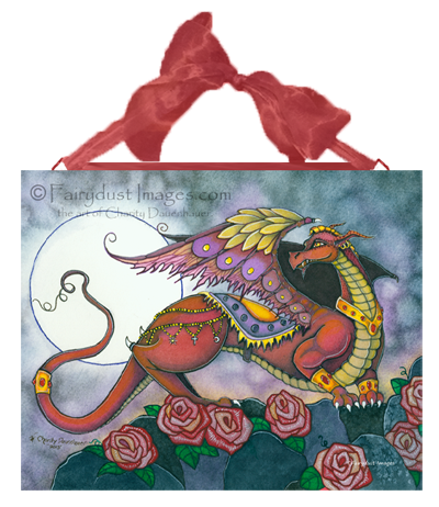 Mufasa - Red Dragon Ceramic Tile Plaque