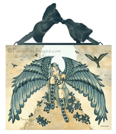 Remembrance - Mourning Angel Ceramic Tile Plaque