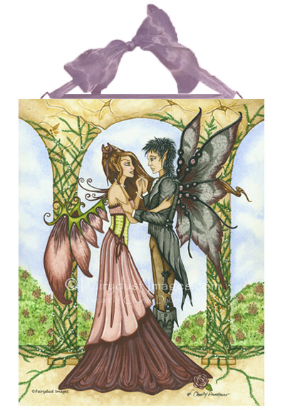 Romantic Moment - Fairies Dancing Ceramic Tile Plaque