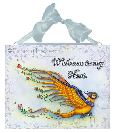 Romeo - Fantasy Bird Ceramic Tile Plaque