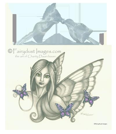 Sarabella - Fairy Face Ceramic Tile Plaque