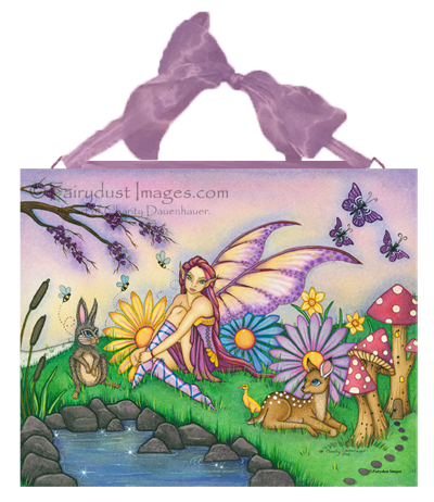 Spring Blossoms - Seasonal Fairy Ceramic Tile Plaque