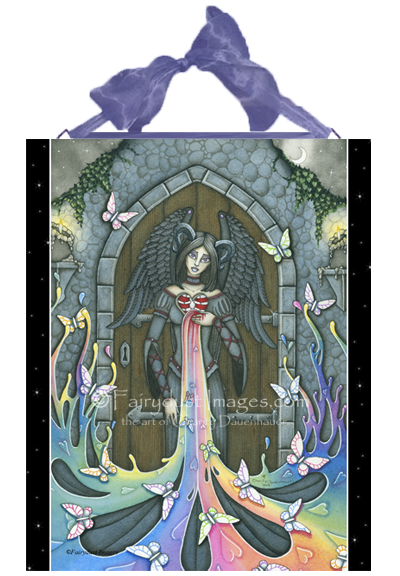 The Beauty Within - Judge Not Angel Ceramic Tile Plaque