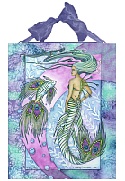 Peacock Mermaid - Ceramic Plaque Tile