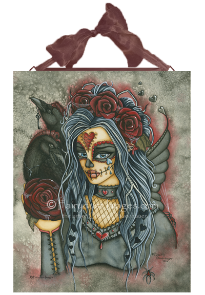 Wild Heart - Day of the Dead Fairy Ceramic Tile Plaque