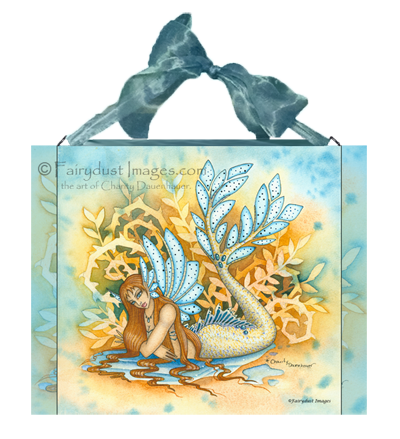 Woodland Tail - Mermaid Ceramic Tile Plaque