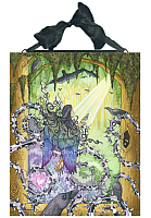 Deliverance - Angel and Crows - Ceramic Art Tile