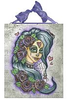 Spider Bite - Purple Sugar Skull Fairy - Ceramic Plaque